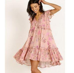 Wild Bloom Blush Mini Dress Spell Designs pink XS